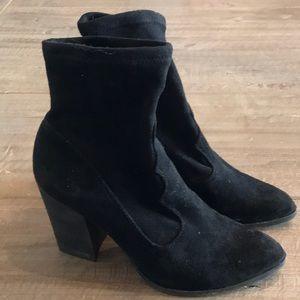 Black Heeled Sock Boot